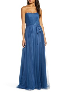 Marchesa Notte Strapless Tulle A-Line Gown