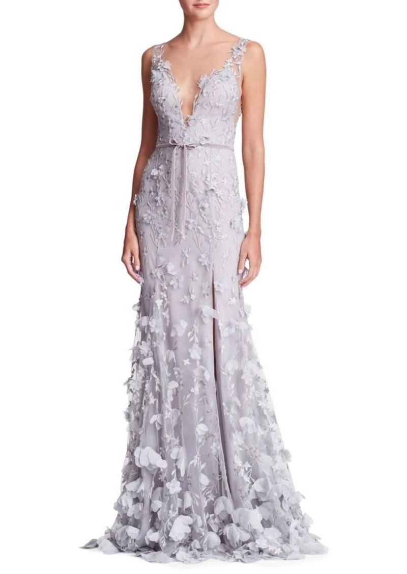 On Sale Today Marchesa Marchesa Notte Tied Petal Plunge Gown