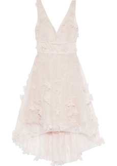 Marchesa Notte Woman Asymmetric Embellished Tulle Dress Pastel Pink