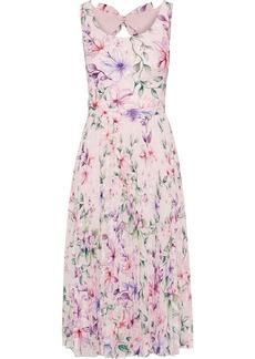 Marchesa Notte Woman Cutout Fil Coupé Floral-print Georgette Dress Pastel Pink