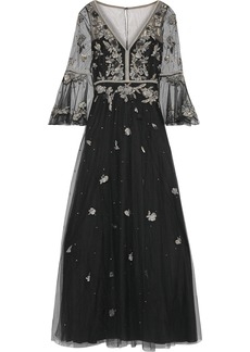 Marchesa Notte Woman Embellished Tulle Gown Black
