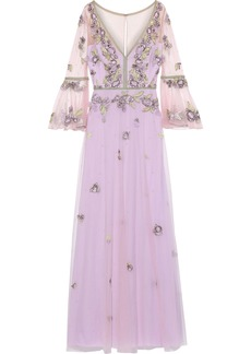 Marchesa Notte Woman Embellished Tulle Gown Lilac