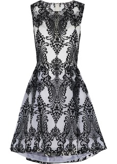 Marchesa Notte Woman Embroidered Tulle Dress Black