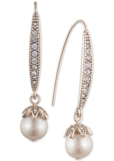 Marchesa Pave & Imitation Pearl Drop Earrings