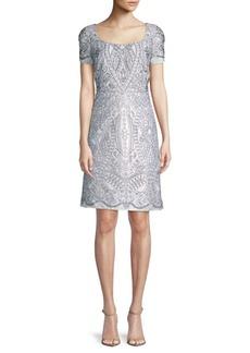 Marchesa Cut-Out A-Line Dress