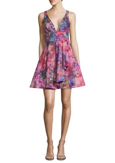 Marchesa Multicolored A-Line Dress