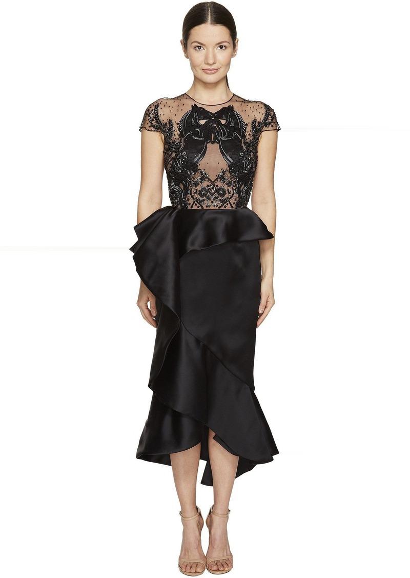 dfdb1f3e6a7 Marchesa Ruffled Peplum Skirt w  Beaded Black Horse Bodice