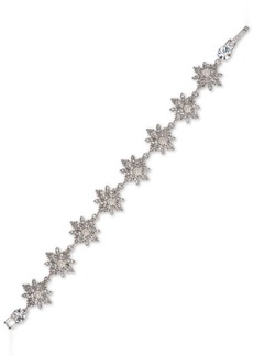 Marchesa Silver-Tone Crystal & Imitation Pearl Flex Bracelet