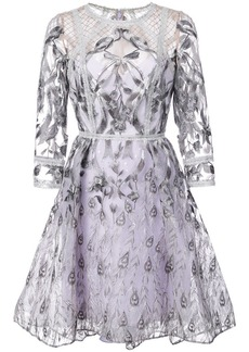 Marchesa mesh embroidered dress
