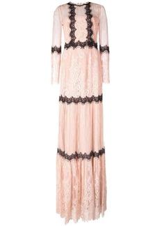 Marchesa mid length lace dress