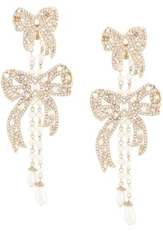 Marchesa Nightingale bow drop earrings