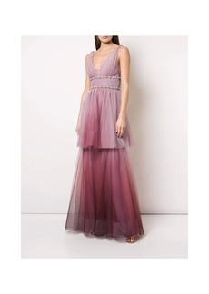 Marchesa Two-Tiered Ombre Gown - 12 - Also in: 10