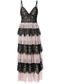 Marchesa ruffle lace dress