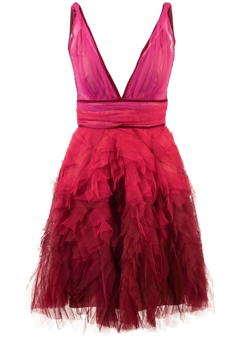 Marchesa ruffle tulle dress