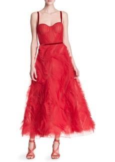 Marchesa Sleeveless Tulle Gown