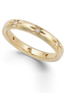 Star by Marchesa Diamond Star Wedding Band in 18k Gold (1/8 ct. t.w.), Created for Macy's