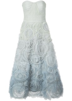 Marchesa strapless evening dress