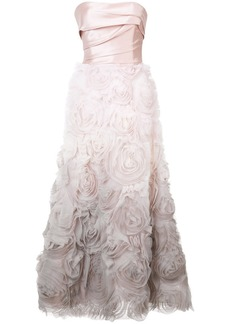 Marchesa strapless ombré gown