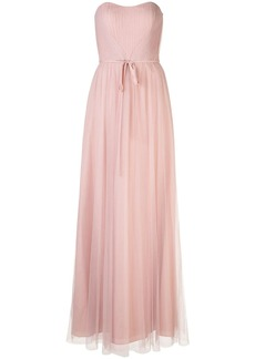 Marchesa strapless tulle long bridesmaid gown