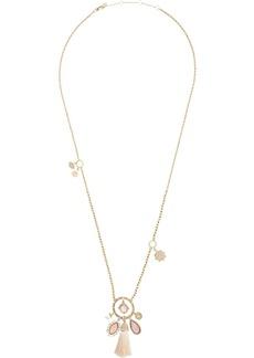 Marchesa tassel gemstone necklace