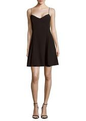 Marchesa V-Neck Fit & Flare Dress