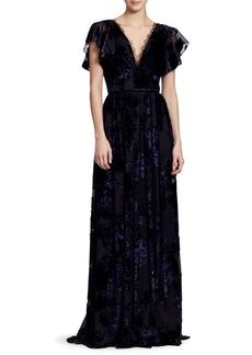 Marchesa Velvet Lace Gown