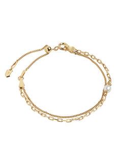 Women's Maria Black Fete Futuro Cantare Adjustable Double Chain Bracelet