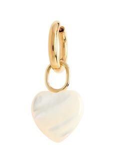 Women's Maria Black Single Heart Drop Huggie Hoop Earring