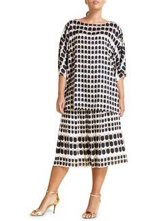 Marina Rinaldi Camilla Geo Print Skirt (Plus Size)