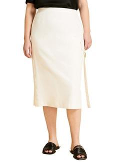 Marina Rinaldi Carbone Pencil Skirt (Plus Size)