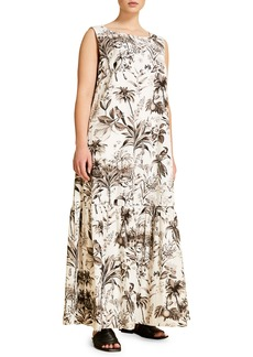 Marina Rinaldi Decuria Floral Print Flounce Dress (Plus Size)