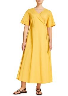 Marina Rinaldi Dolomiti Poplin Wrap Dress (Plus Size)