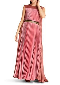 Marina Rinaldi Doriana Pleated Maxi Dress (Plus Size)