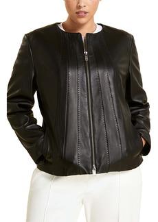 Marina Rinaldi Elettra Sheepskin Leather Jacket (Plus Size)