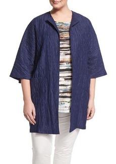 Marina Rinaldi Fervore Crinkled Long Jacket