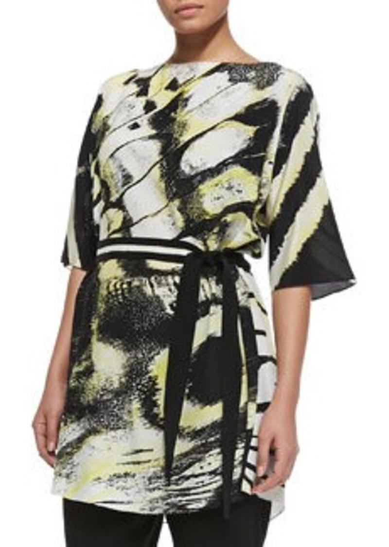 Marina Rinaldi Filomena Printed & Belted Jacket, Women's