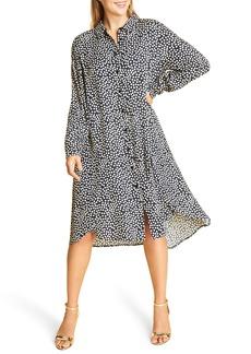 Marina Rinaldi Long Sleeve Crepe Dress (Plus Size)