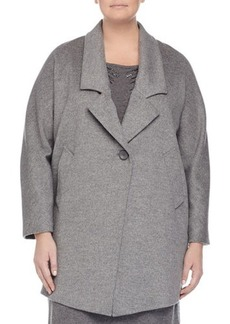 Marina Rinaldi Nobile Wool One-Button Jacket