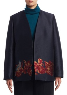 Marina Rinaldi, Plus Size Embroidered Open-Front Jacket