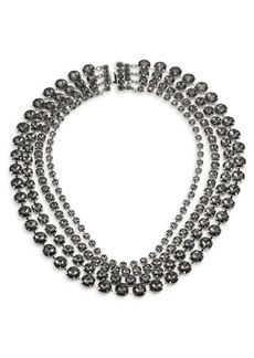 Marina Rinaldi, Plus Size Rhinestone Multi-Strand Necklace