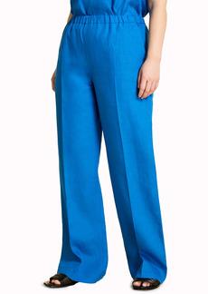 Marina Rinaldi Regolare Loose Fit Linen Pants (Plus Size)