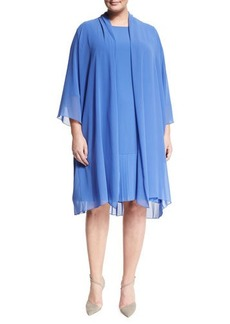 Marina Rinaldi Tempo Long Pleated Coat
