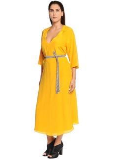 Marina Rinaldi Silk Crepe Midi Dress