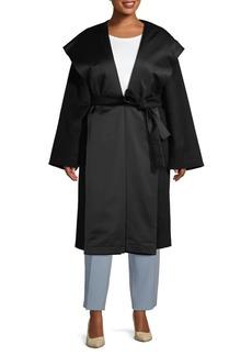 Marina Rinaldi Plus Tie-Waist Wool Coat