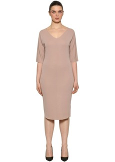 Marina Rinaldi V Neck Wool Knit Dress