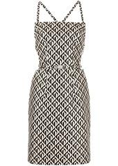 Marine Serre geometric logo-print strappy pinafore dress
