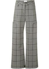 Marine Serre houndstooth wide-leg trousers