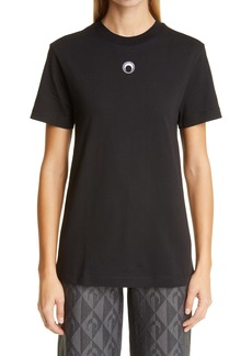 Marine Serre Moon Logo Embroidered Large Fit Cotton T-Shirt