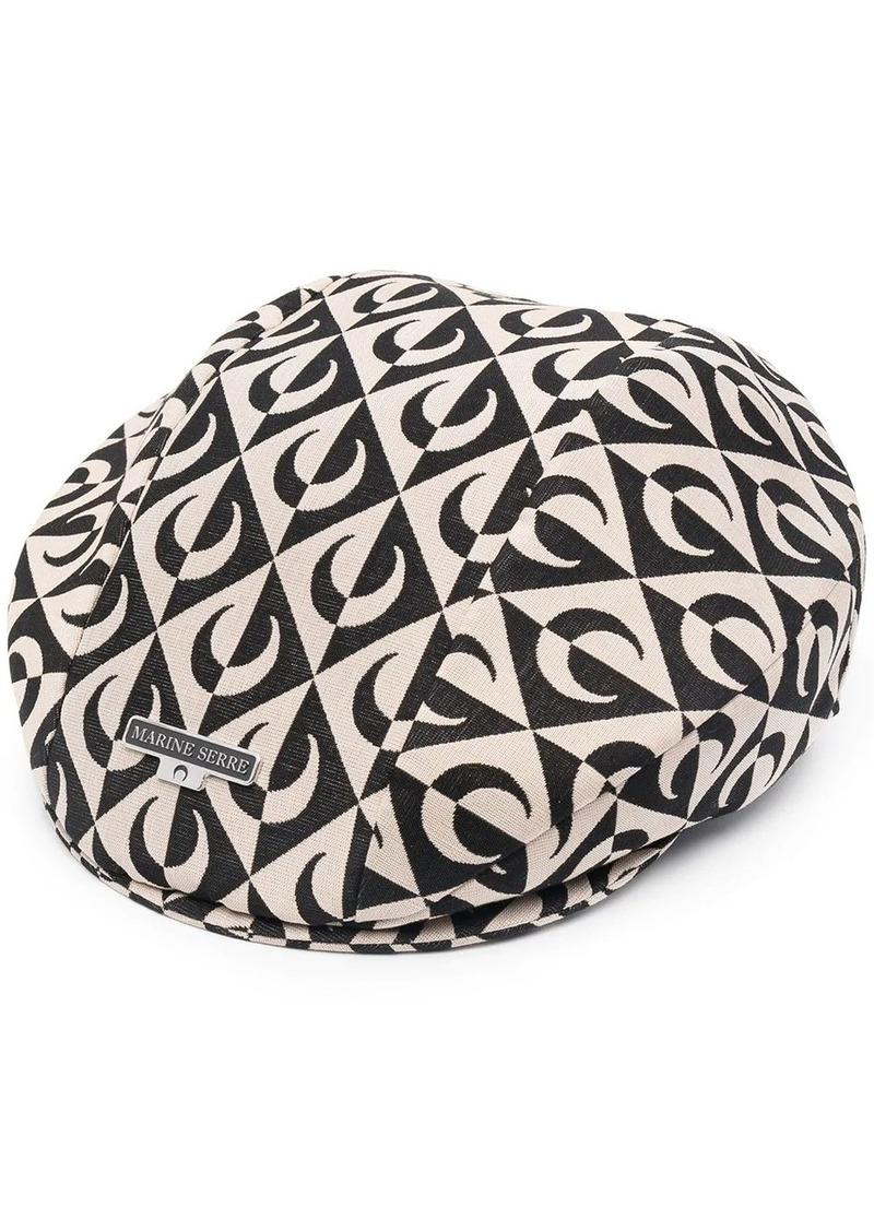 moon-print baker hat