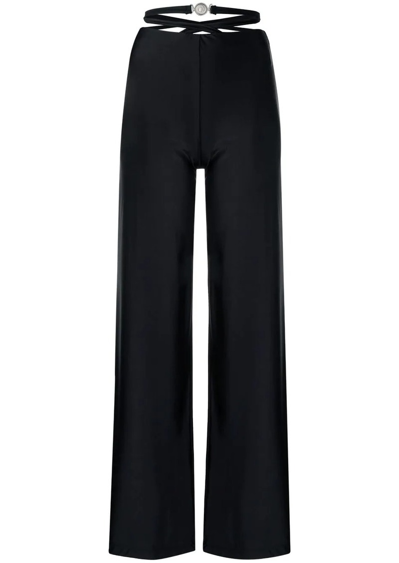 strapped waist trousers